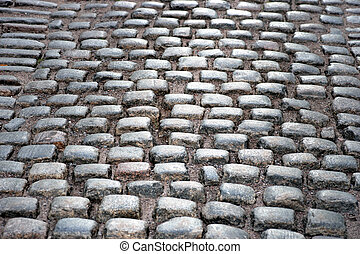 Ancient street with cobblestones