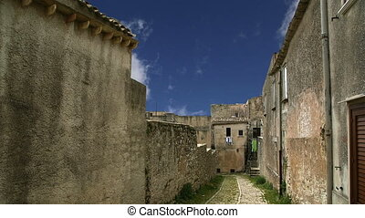 Erice, Sicily, Italy - Ancient streets in old italian style....