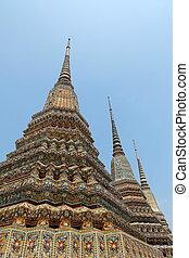 Ancient Stupa at Wat Pho Bangkok, Thailand.