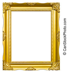 ancient style golden photo image frame