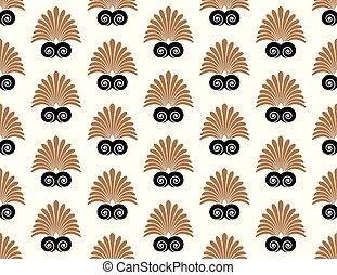 Ancient swirl greek seamless ornament pattern, vector