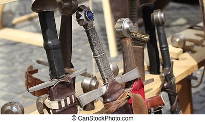 Ancient Swords - Various medieval swords with different...
