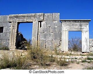 Ancient synagogue. Israel - Ancient synagogue. Mount Meron....