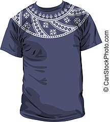 Ancient t-shirt. Vector Illustration