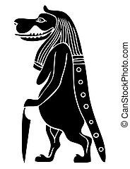 ancient, taweret, mytiske, ægypten, -, væs