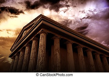 Ancient Temple - Ancient Architecture 3D Rendered Abstract...