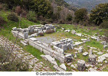 Ancient temple at Lykosura, Greece