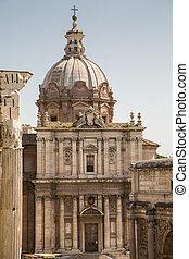 Ancient Temple in Roman Forum