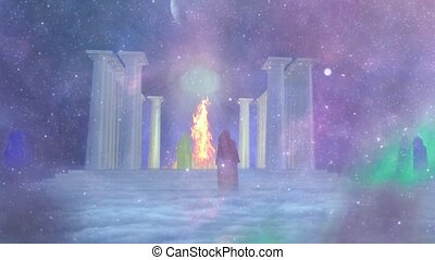Ancient temple of fire and its mysterious priests. All ...
