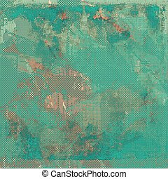 Ancient textured background or shabby backdrop. With different color patterns: brown; green; blue; gray; cyan