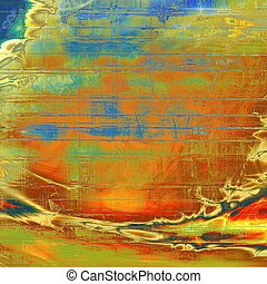 Ancient textured background or shabby backdrop. With different color patterns: yellow (beige); brown; green; blue; red (orange); cyan