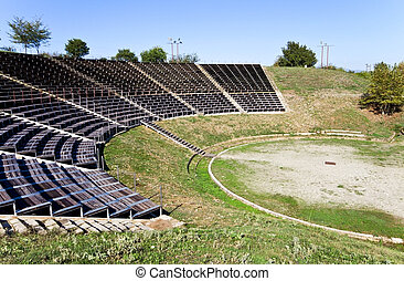 Ancient theater at Dion, Greece