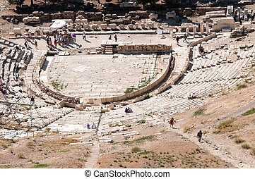 Ancient theater in Acropolis, Athens