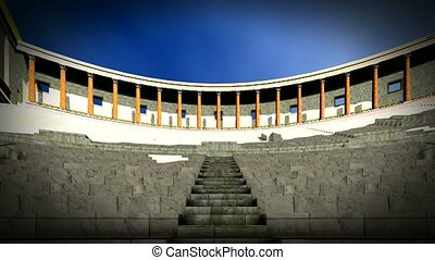 Ancient theater in Pompei - Italy