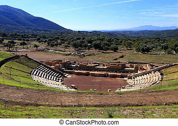 Ancient theater of Messini, Greece