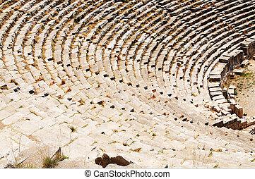Ancient theater ruins in Myra, Turkey.