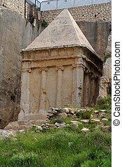 Ancient tomb of Zechariah in Jerusalem