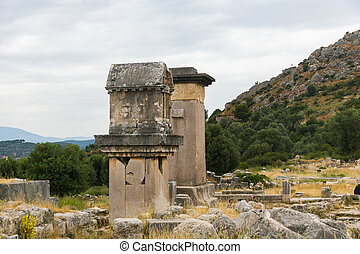 ancient tombs in Xantos