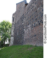 Ancient tower in a city wall