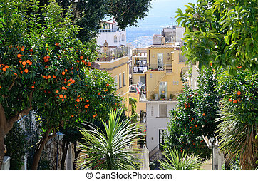 Sicilian coast - Ancient town Taormina has been a very...