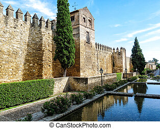 Ancient town wall of Cordoba in Spain
