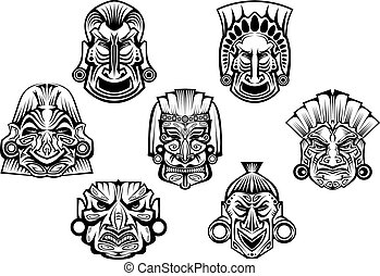 Ancient tribal religious masks - Religious masks in ancient...