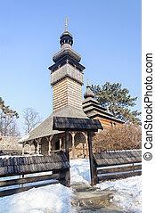 Ancient Ukrainian wooden church