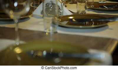 Ancient utensils on a table