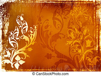 Ancient V - decorative abstract background