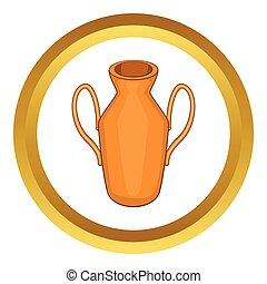 Ancient vase vector icon
