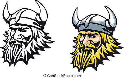 Ancient viking - Ancient angry viking warrior as a mascot or...