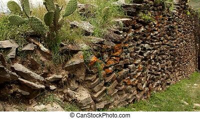 Ancient wall built by Wari people