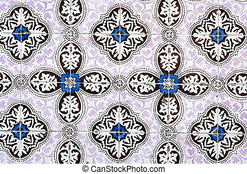Ancient wall mosaic - Wall outdoor decorative mosaic in...