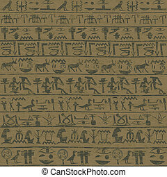 Ancient wall with Egyptian hieroglyphicsm grunge background