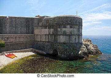 Ancient walls of Dubrovnik, Croatia