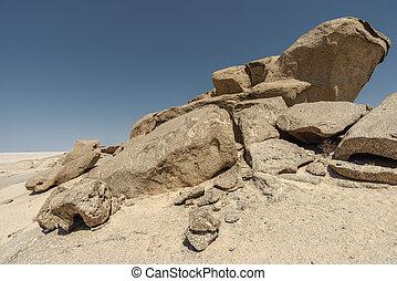 weathered desert rocks