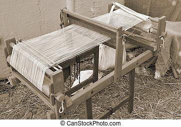ancient weaving machine