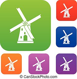 Ancient windmill set collection