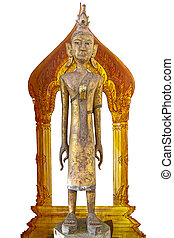 wood buddha stand
