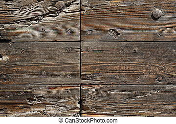ancient wooden boards background
