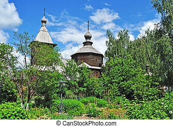 Ancient wooden church of Sergey Radonezhsky in Murom, Russia