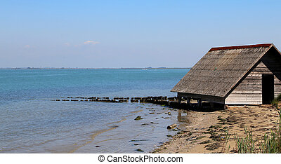 ancient wooden house of fishermen