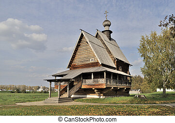 Ancient wooden russian church in Suzdal