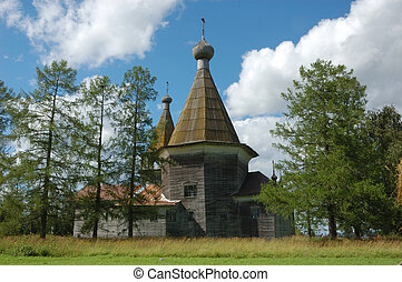 Ancient wooden russian country church