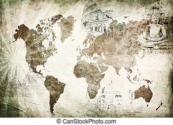 ancient world travel map