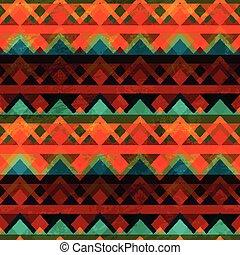 ancient zigzag seamless pattern