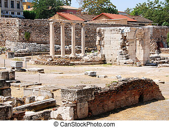 Anciet agora from Athens - View of ancient agora in Athens...