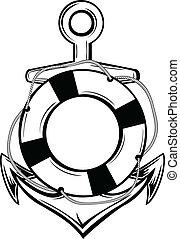 ancla, ring-buoy