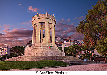 Ancona, Marche, Italy: the war Memorial in the Passetto ...