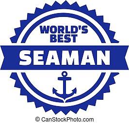ancorare, emblema, mondo, meglio, marinaio